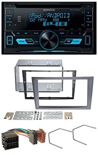 Kenwood DPX-3000U CD MP3 USB AUX 2-DIN Autoradio für Opel Corsa C Meriva Signum Vectra B ISO charcoal