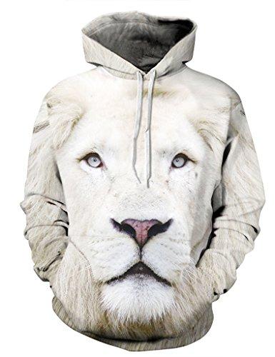 Ninimour Unisex Slim Fit 3D Digital Bedruckte Dünnen Sweatshirt Kapuzenpullover Hoodies (M, QYDM035mu)