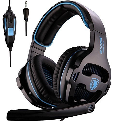 [2016 SADES SA810 Neue freigegebene Multi-Plattform Neue Xbox ein PS4 Gaming Headset], Gaming Headsets Kopfhörer Für Neue Xbox ein PS4 PC Laptop Mac iPad iPod (Schwarz & Blau)