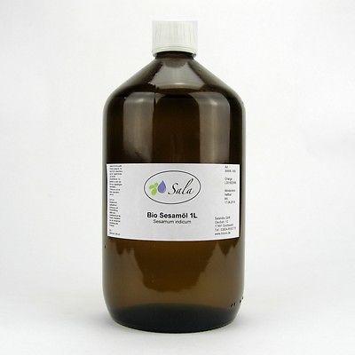 (11,60/L) Sala Bio Sesamöl kaltgepresst Sesam Öl Massageöl 1000 ml 1 L Glasfl.