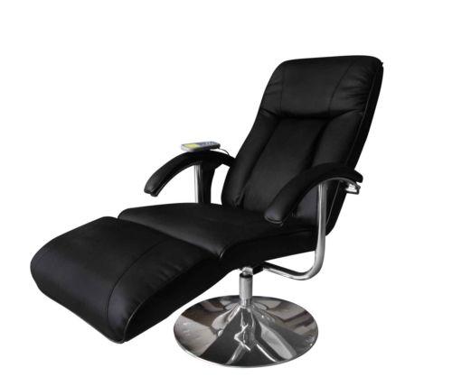 Massagesessel Fernsehsessel Relaxsessel Massage+Heizung TV Sessel SCHWARZ NEU 1