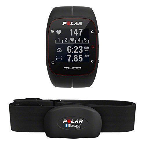 Polar M400 HR Modell 2016 schwarz black inkl H7 Brustgurt Herzfrequenzsensor GPS