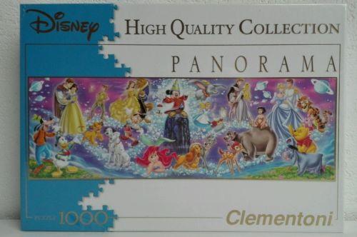 Clementoni 30784 Puzzle Panorama Disney Family 1000 Teile NEU & OVP