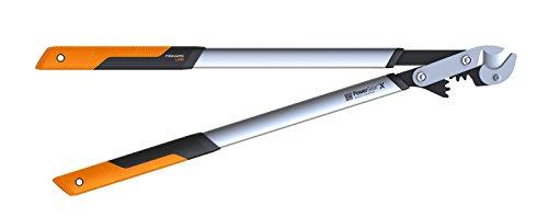 Fiskars PowerGearTM X Amboss-Getriebeastschere LX99-L, mit Klingenschutz Länge 80 cm, Schwarz&Orange