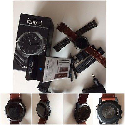 Garmin Fenix 3 Saphir - Multisport GPS Uhr - inkl. 3 Armbändern / TOP-Zustand!!!