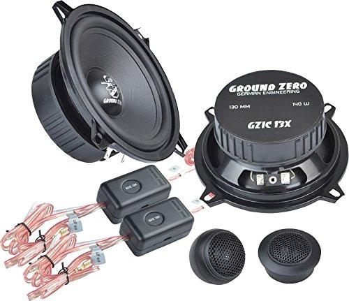 Ground Zero Iridium GZIC 13X Auto Lautsprecher Kompo-System 280 Watt für Dacia Sandero alle Einbauort vorne :Türen / hinten :Türen