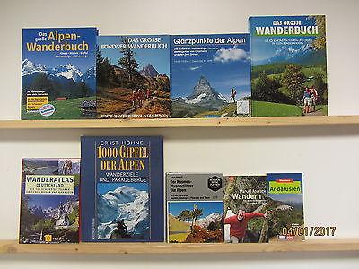 47 Bücher Wandern Wanderrouten Wanderführer Wanderatlas Wanderbücher