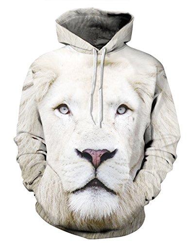 Ninimour Unisex Slim Fit 3D Digital Bedruckte Dünnen Sweatshirt Kapuzenpullover Hoodies (XL, QYDM035mu)
