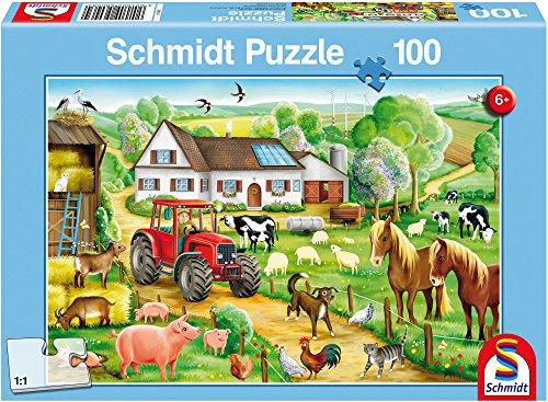 Schmidt Spiele 56003 - Fröhlicher Bauernhof, 100 Teile