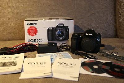 Canon EOS 70D 20.2 MP DSLR-Digitalkamera - TOP gepflegt (Nur Gehäuse)