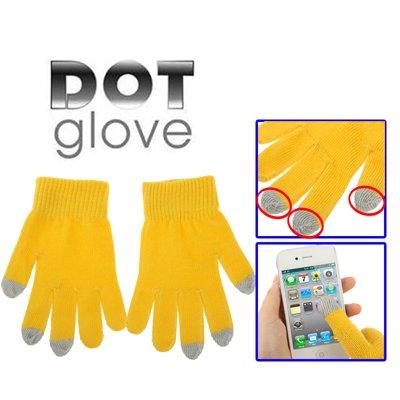 SmartProtectors! Smartphone Handschuhe mit Touch Eigenschaften / Handy einfach mit Handschuhen bedienen / Gelb Grau / STANDARD EINHEITSGRÖSSE