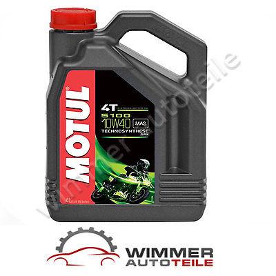 MOTUL 5100 4T ESTER teilsynthetisch halbsynth 10W-40 MA2 4-Takt Motoröl 4 Liter