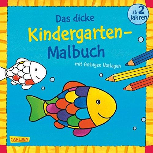 Das dicke Kindergarten-Malbuch, Bd. 2: Mit farbigen Vorlagen und lustiger Fehlersuche: Malen ab 2 Jahren