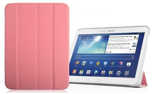 VEO | Ultra Slim Hülle für [ Samsung Galaxy Tab 3 10.1 ] Smart Cover mit automatischer Schaltfunktion, ROSA