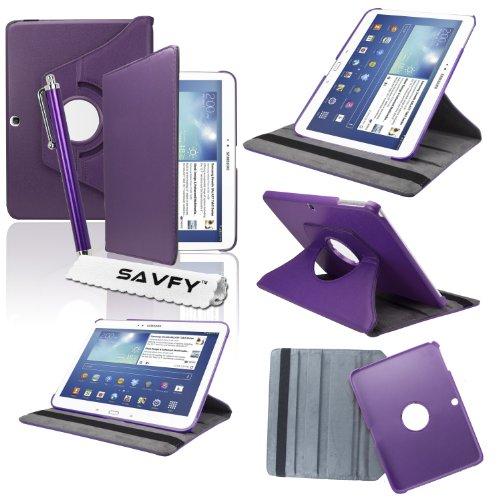 SAVFY® Samsung Galaxy Tab 3 10.1 hülle 360 Grad Drehung Kunstleder Hülle