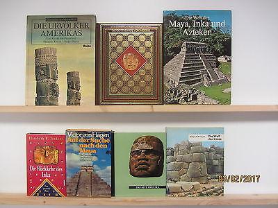28 Bücher Bildbände amerikanische Geschichte Inka Maya Azteken Amerikas Urvölker