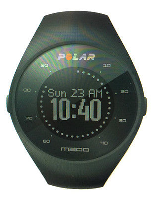 Polar M200 GPS Pulsuhr mit Herzfrequenzmessung Schwarz M/L