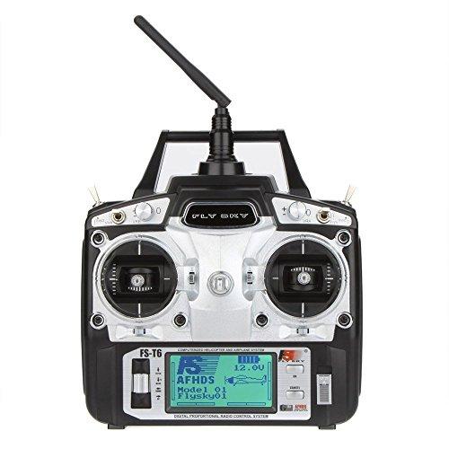Original GoolRC FS-T6 hohe Präzision 2.4GHz 6CH Modus 2 Sender mit Empfänger R6-B für RC Multirotor Quadcopter Hubschrauber Flugzeug Segelflugzeug Auto