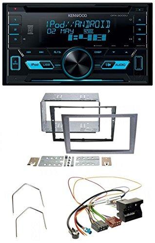 Kenwood DPX-3000U CD MP3 USB AUX 2-DIN Autoradio für Opel Corsa C Signum Vectra B Quadlock charcoal