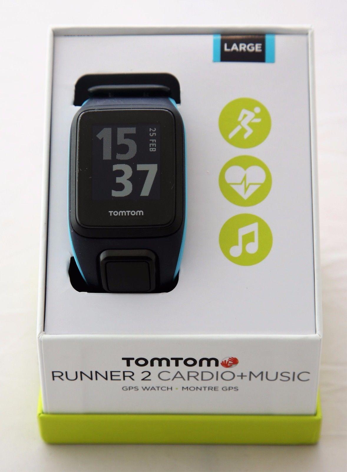TomTom Runner Cardio Music, Blau, Large