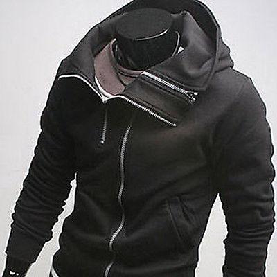 Men's Botique Designer Slim  FIt Casual Sweatshirt Hoody Top Jacket Coat Hoodies