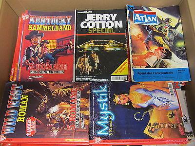 285 Romanhefte Western Kriminalromane Science Fiction Horror Grusel