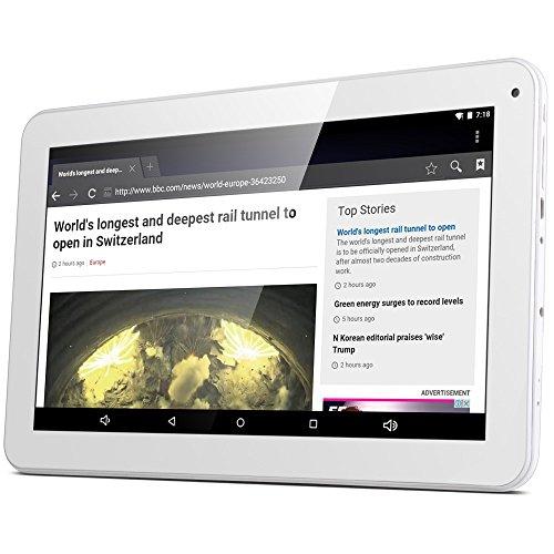 GBtiger L1008 10,1-Zoll-Tablet PC (Android 5.1 Allwinner A33 Quad-Core 1,3 GHz, 1 GB RAM + 16 GB ROM, Doppelkamera , HD-Auflösung von 1024 x 600)EU-Stecker (1GB RAM + 16GB ROM, weiß)