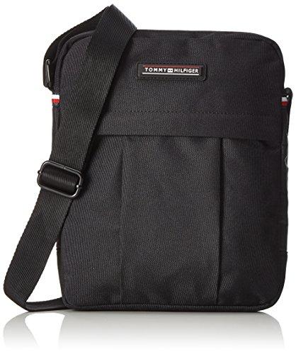 Tommy Hilfiger Herren Slim Reporter Business Tasche, Schwarz (Black), 5x28x23 cm