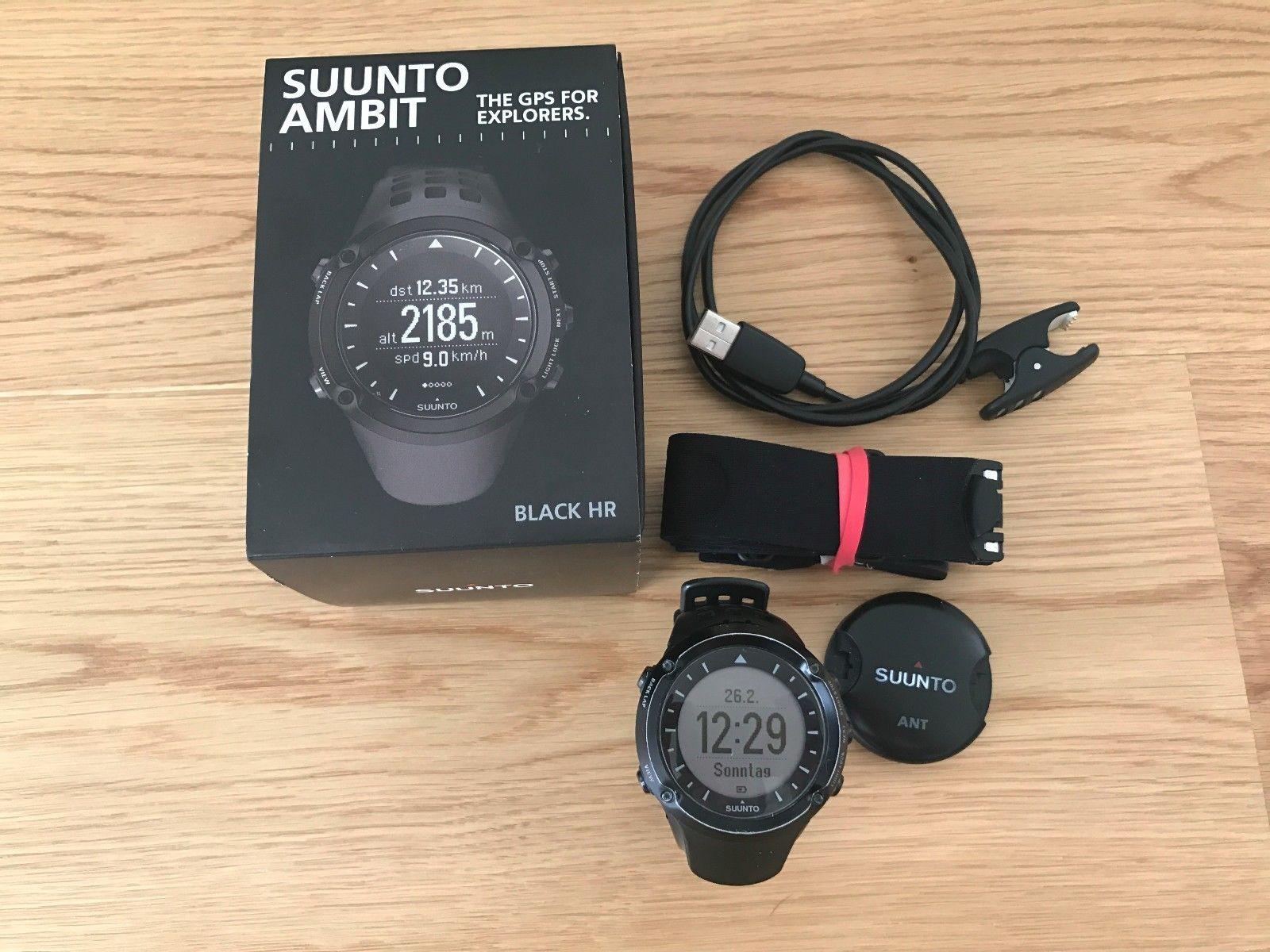 Suunto Ambit Black HR, GPS / Outdoor Uhr mit Pulsmesser, guter Zustand!