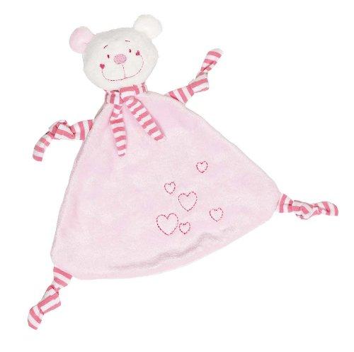 Cause 65114 - Kuscheltuch Bär mit Herzen, rosa