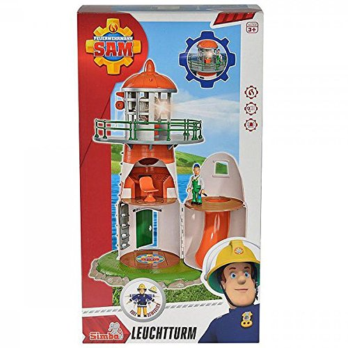 Simba 109252133 - Feuerwehrmann Sam Leuchtturm mit Figur 40cm