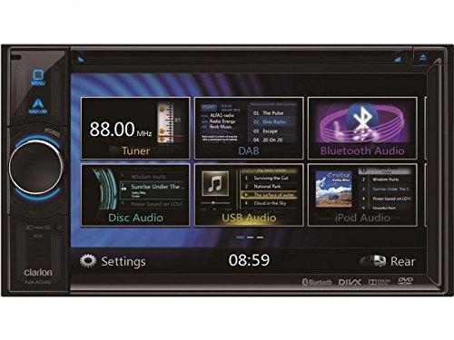 Clarion Navigation Auto Radio 2 DIN DVD USB HDMI mit Bluetooth passend für Toyota Avensis T25 02/2003-01/2009 incl Einbauset