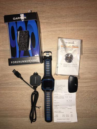 Garmin Forerunner 920XT HRM schwarz/blau neuwertiger Zustand MIT RESTGARANTIE