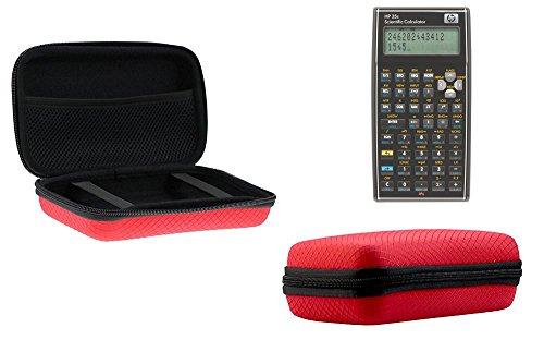 Navitech Rot Schock Sicher EVA Schutztasche / Abdeckung / Fall / Gehäuse für HP F2215AA HP35S Scientific Calculator