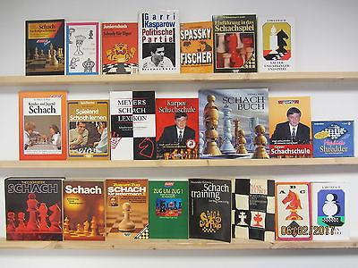 21 Bücher Schach Schachspielen Kasparow Karpov Schachschule Schachtraining