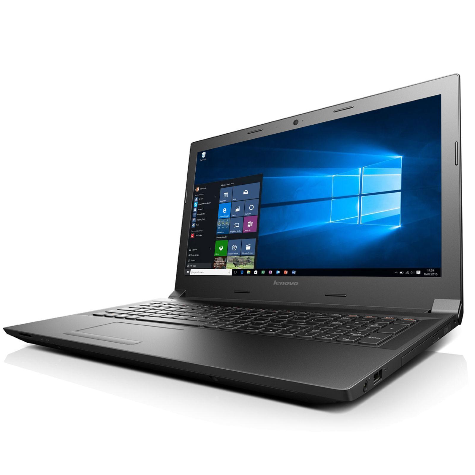 Lenovo Notebook 15,6 Zoll - Intel Core 2,58 GHz - 250 GB - HDMI - Windows 10 Pro