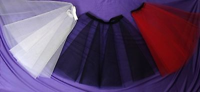 Rock and Roll Underskirt Rockabilly Petticoat Full Circle 2 Layer s Dress Net