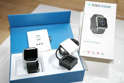 GPS FITbit BLAZE Tracker Herzfrequenz Messer schwarz Gr. L Farbdisplay NEU