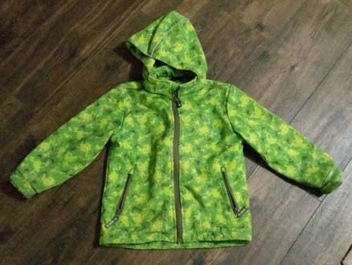 Jako-o Softshelljacke Gr. 116/122 grün Froschmotiv