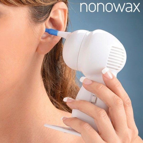 Ohrreinigungsgerät Nonowax Ohrreiniger Ohrenreiniger mit 4 Aufsätzen Ohren Ohr