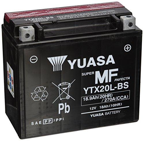 YUASA YTX20L-BS Powersports AGM Motorrad Batterie, wartungsfrei (Preis inkl. EUR 7,50 Pfand)