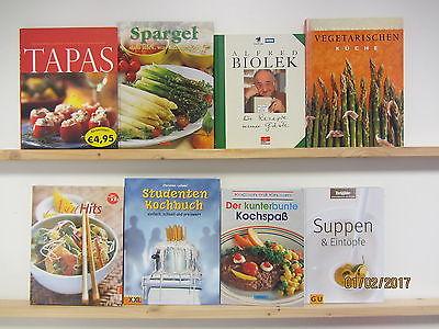 29 Bücher Kochbücher nationale und internationale Küche großformatig Paket 2