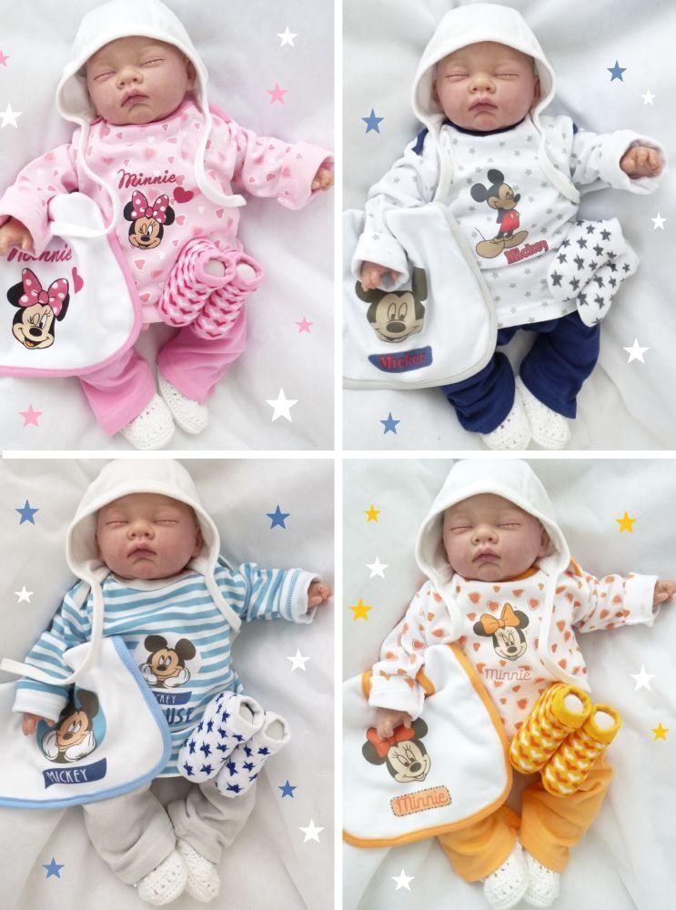 NEU | Strampler Schlafanzug | Disney Geschenkset | Junge Mädchen | Newborn 56 62