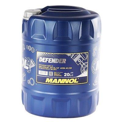 10W-40 Motoröl 20 Liter Mannol Defender Öl Kanister 10W40 20L API SL CF Motor Öl