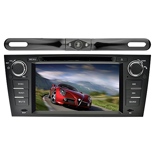 YINUO 7 Zoll 1 Din Android 5.1.1 Lollipop Quad Core Autoradio Moniceiver DVD GPS Navigation 1080P OEM Stecker Canbus Orange Farbe Tastenbeleuchtung für BMW 3 Series 2006-2011 BMW E90/ 2006-2011 BMW E91/ 2006-2011 BMW E92/ 2006-2011 BMW E93 mit Backup-Kame