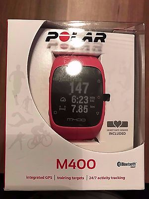 Polar M400 Pink GPS Herzfrequenz inkl. HR Brustgurt OVP