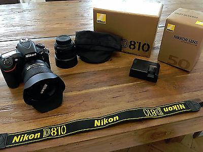 Nikon D810 + OVP + Rechnung + 2 Objektive (50mm, 24mm-120mm) + TOP ZUSTAND