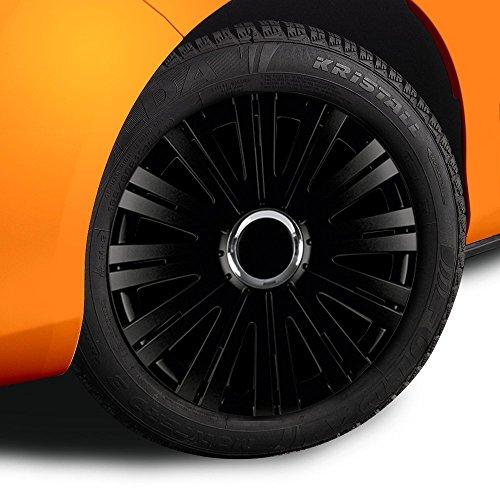 14 Zoll Radkappen ACTIVE (Schwarz) passend für fast alle Fahrzeugtypen (universell)