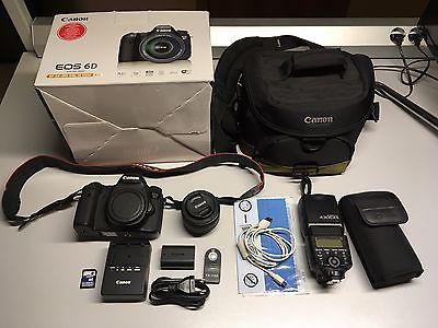 Canon EOS 6D + Zubehörpaket (EF 50mm f/1.8 STM + Canon 430EX II +Tasche)