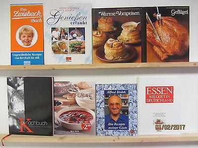30  Bücher Kochbücher nationale und internationale Küche großformatig Paket 1